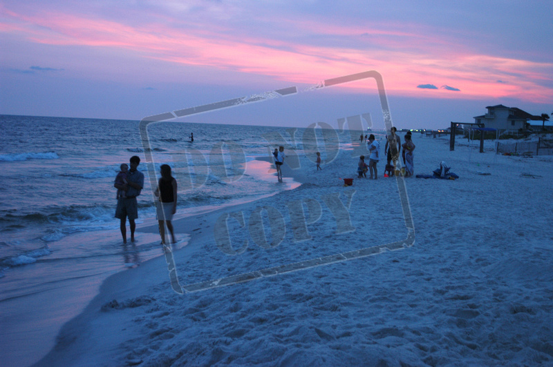 Beach at sunset Gulf Shores (4)