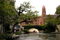 San Antonio River and Bexar County Courthouse 024