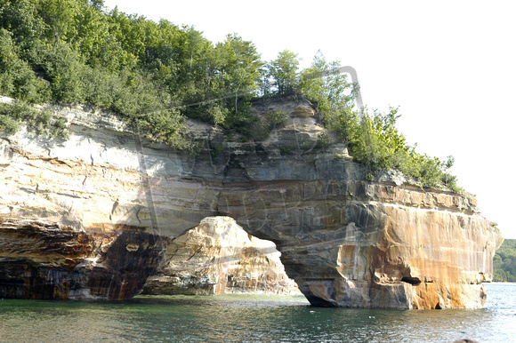 Pictured Rocks National Lakeshore Lovers Leap Upper Peninsula Michigan 117