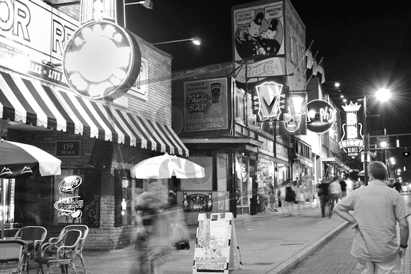 Beale Street Stock Photography Memphis Tennessee